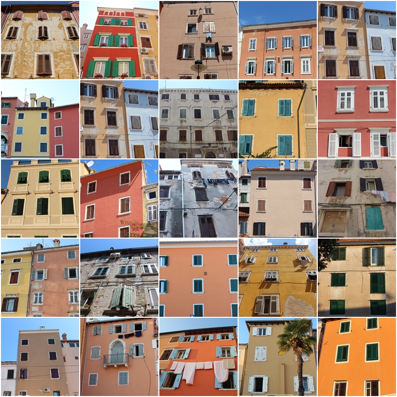 Colorful Row House Buildings in Rovinj