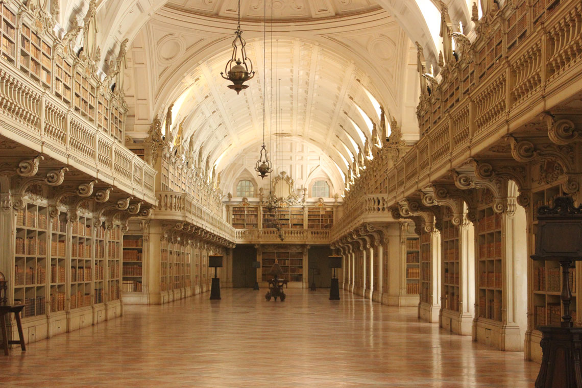 Mafra National Palace hosts one of the most beautiful libraries in the world