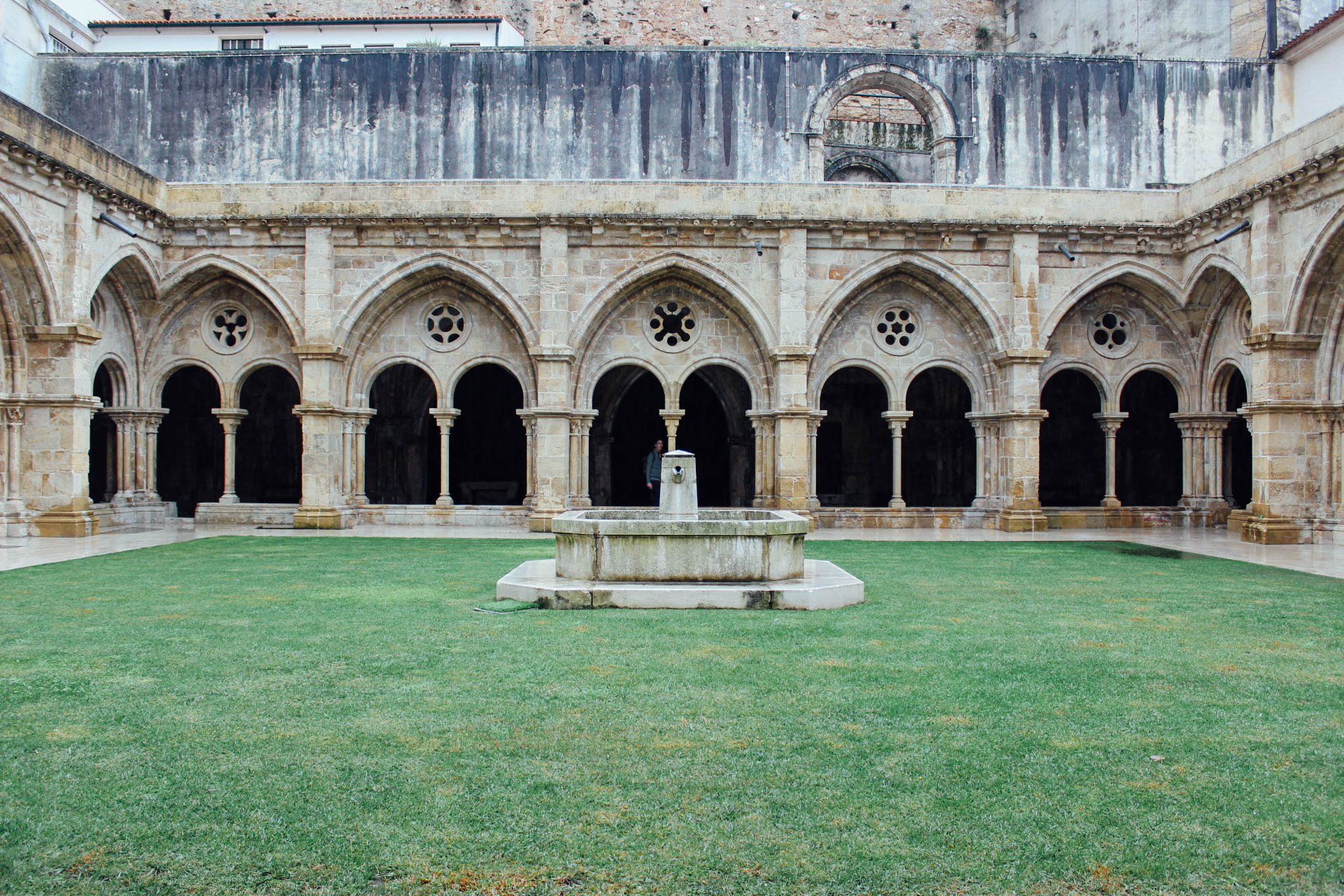 The old cathedral in Coimbra
