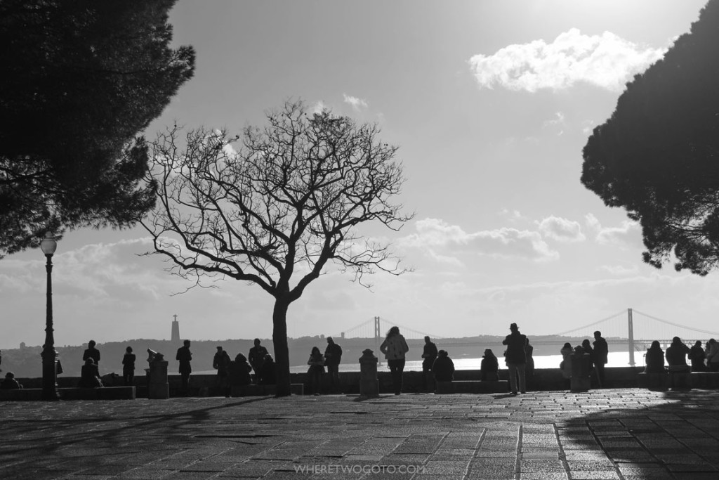 Atop Lisbon's highest hill at São Jorge Castle