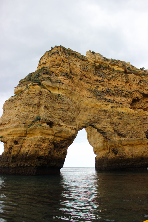 Boat tour Benagil Marinha caves Algarve Where Two Go To